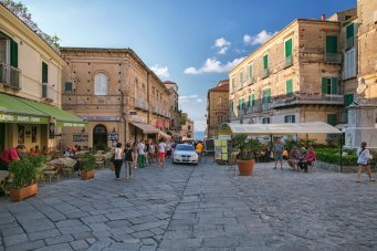 Life on the streets of the beautiful city of Tropea in southern Italy
